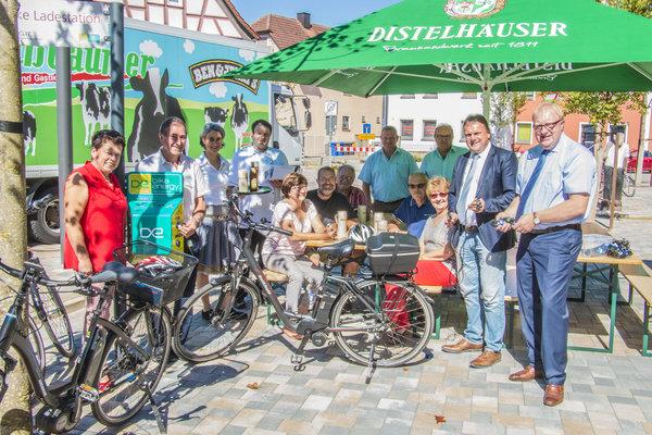 E-Bike vor Gasthaus Stern