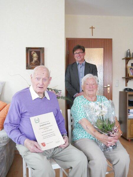 70 Hochzeitstag Karola und Otto Benkert
