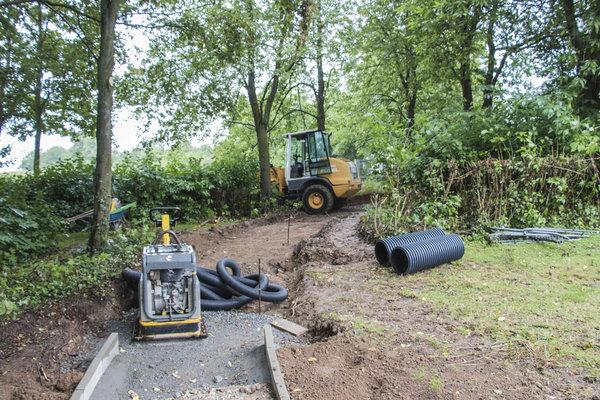 Errichtung Otto-Habermann-Brunnen-Bauarbeiten