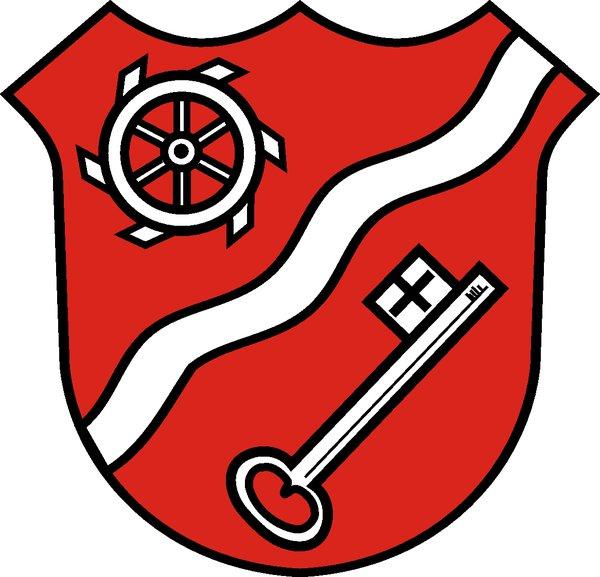 Wappen Gemeinde Kürnach farbig